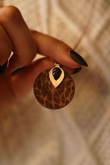 Колье с кулоном из серебра покрытого розовым 14К золотом