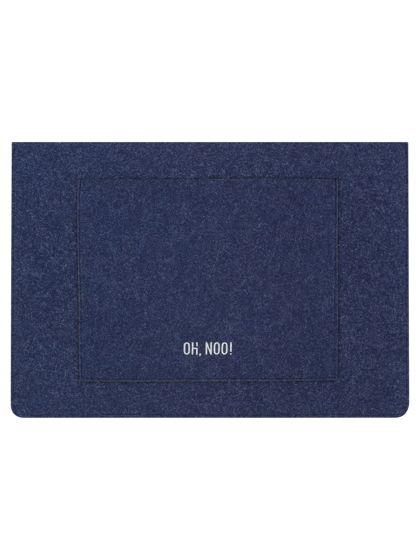 Чехол из фетра для MacBook и ноутбуков, синий, горизонтальный