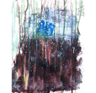 Дом на краю дождливой ночи | Acrylic on Canvas | 31*41 Картина, акрил на холсте, абстракция