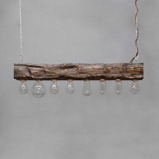 Подвесной светильник из дерева Cube_08 Венге