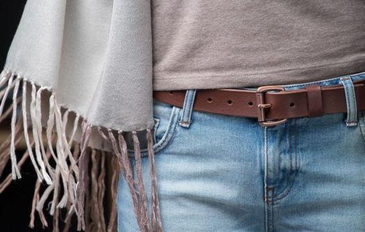 Женский ремень для джинс, модель Chocolate Vintage