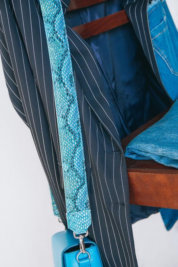 Ремень для сумки «мамба море»