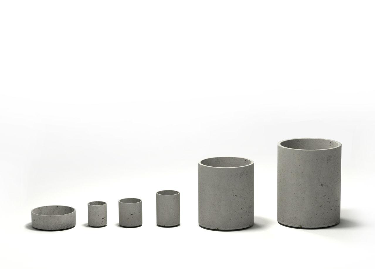 Вазон из бетона Cylinder 205