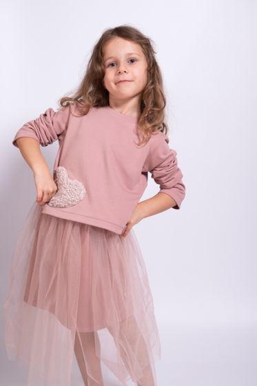 Мягкий розовый свитшот с сердечком