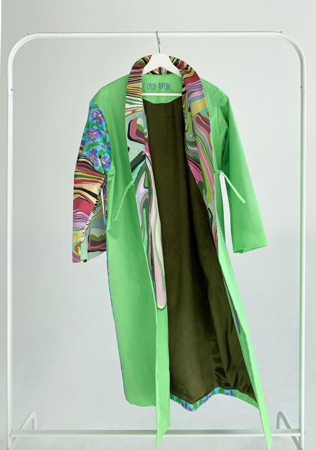 """Длинное  кимоно из плотного хлопка """"Ways"""""""