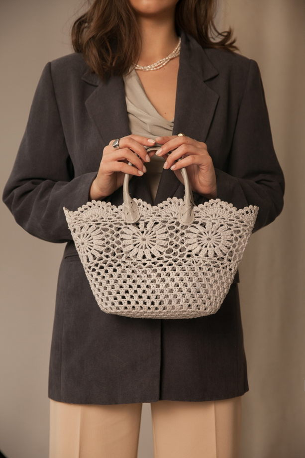 Хлопковая плетёная сумка