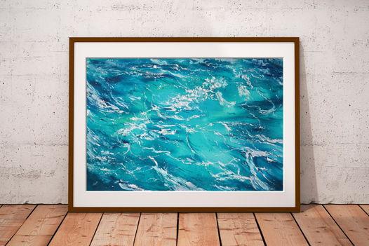 """Акварельная картина """"Морская вода 4"""" (56 х 38 см)"""