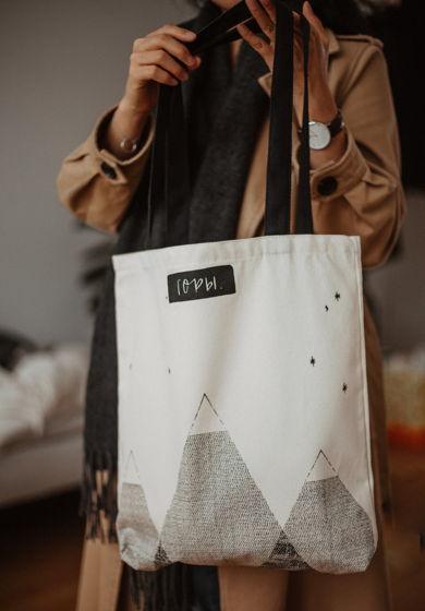 """Авося """"горы"""". Тканевая сумка - шоппер."""