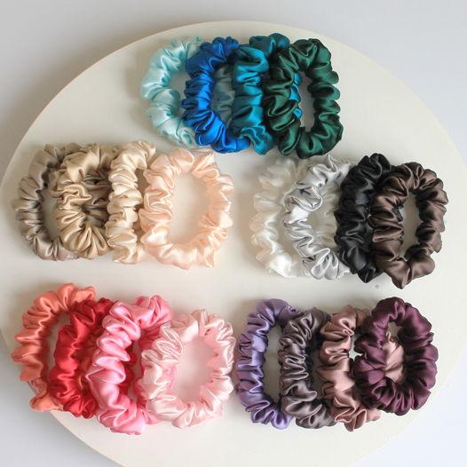 Резинки для волос из натурального шёлка среднего размера Medium