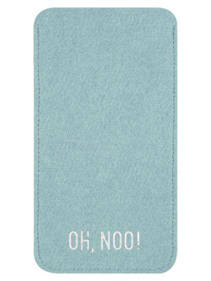 Чехол из фетра для iPhone и телефонов, голубой