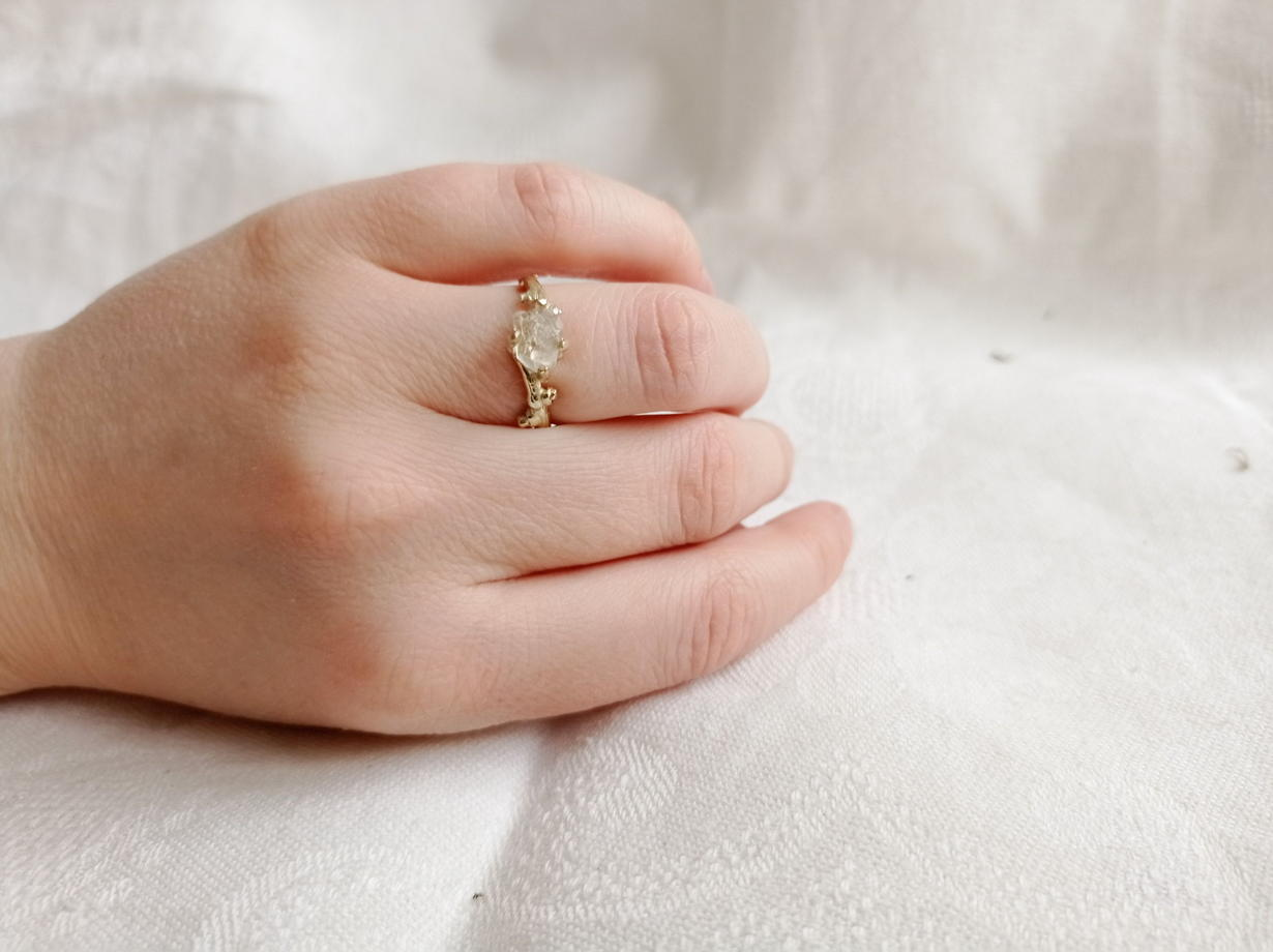 Латунное кольцо 'весна'