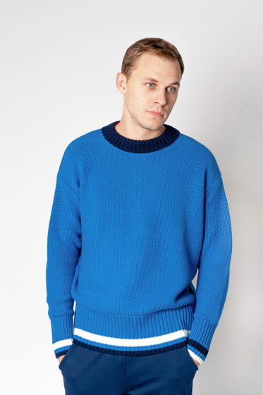 Полушерстяной свитер оверсайз 'PLAYER 1