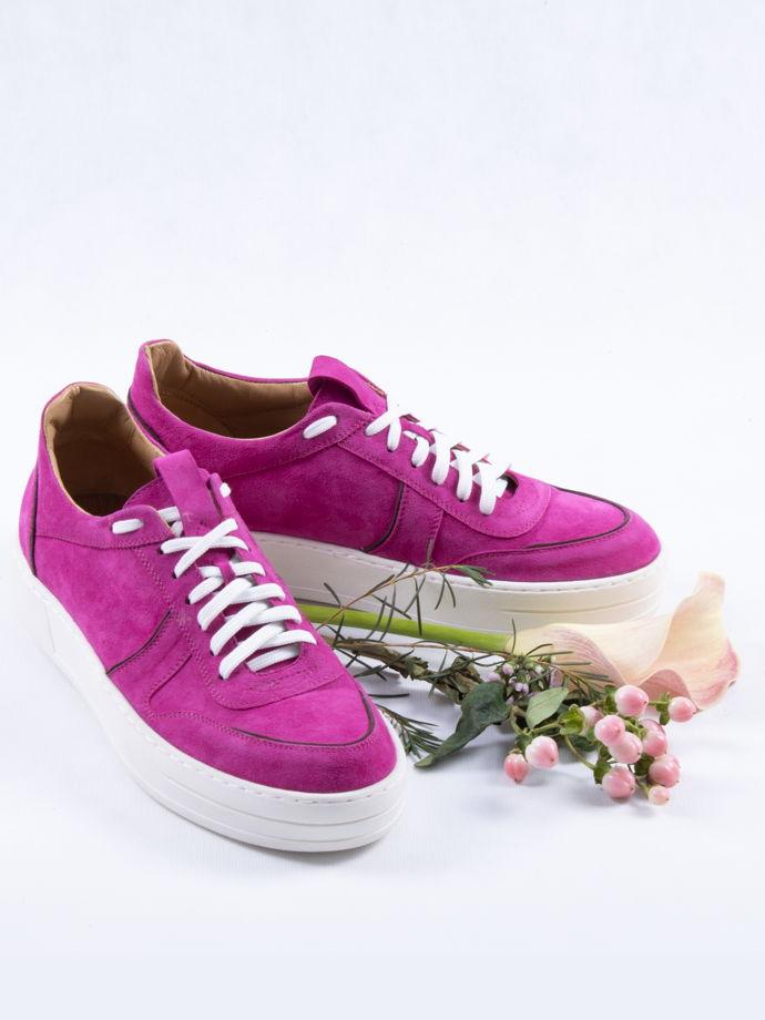 Кеды замша, розовые / Arcadia Shoes