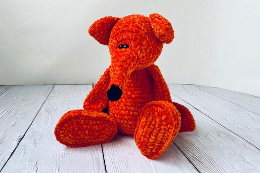Лис - вязаная игрушка