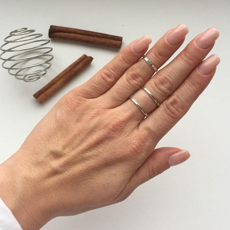 Кольцо на фалангу гладкое «Геометрия»