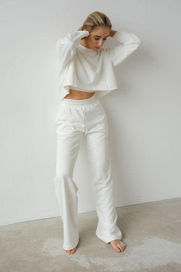 Белый костюм из 100% мягкого хлопка