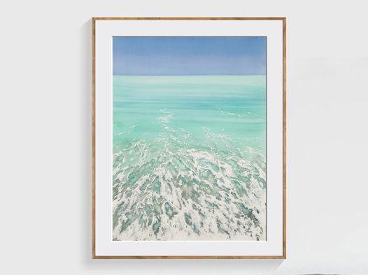 """Акварельная картина """"Тропический прилив"""" (28 х 38 см)"""