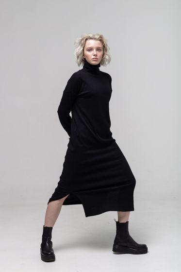 Платье-бадлон чёрного цвета