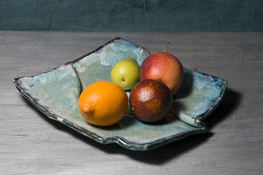 Мятые пластовые тарелки (большие)