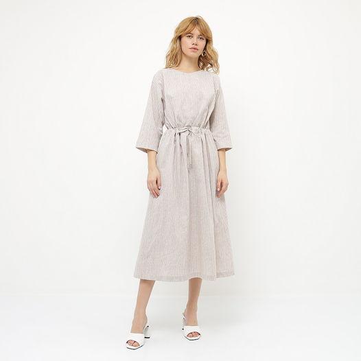Платье оверсайз с кулиской полосатое