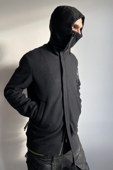 куртка бомбер unisex N13L шерстяной с капюшоном