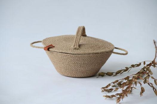 Корзина (хлебница) из джута