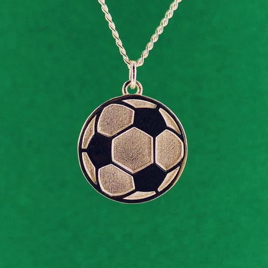 Серебряная подвеска Мяч для футболиста