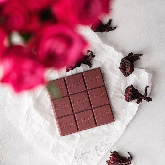 Шоколад с каркаде KARKADE CHOCOLATE 40%