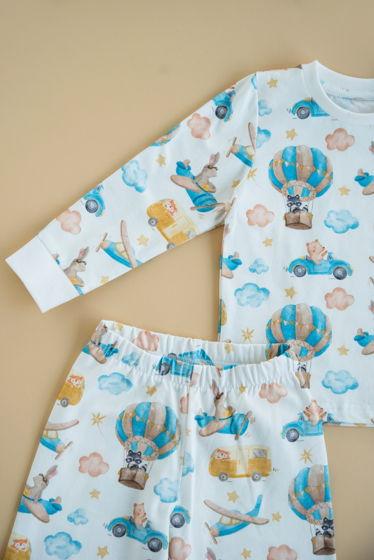 """Детская пижама с авторским принтом """"Транспорт"""""""