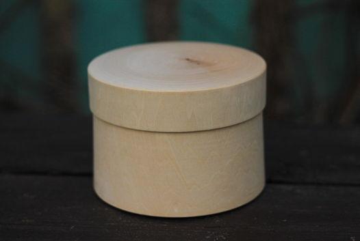 Шкатулка коробочка круглая деревянная