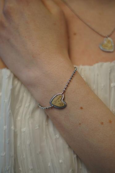 Браслет из серебра коллекция Сердце