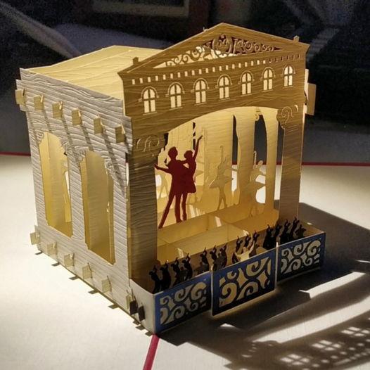 Русский балет 3D открытка ручной работы