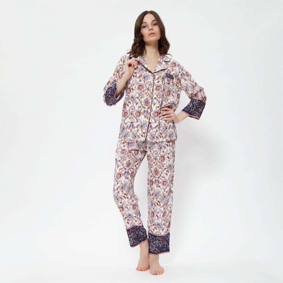 """Пижама """"Барели"""" коричневая"""