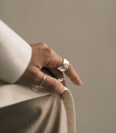 кольцо широкое гладкое