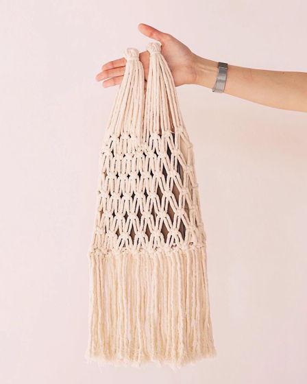 Хлопковая сумка авоська белая