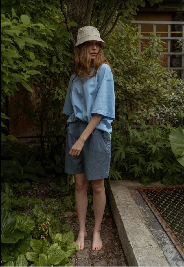 Шорты-бермуды синего цвета