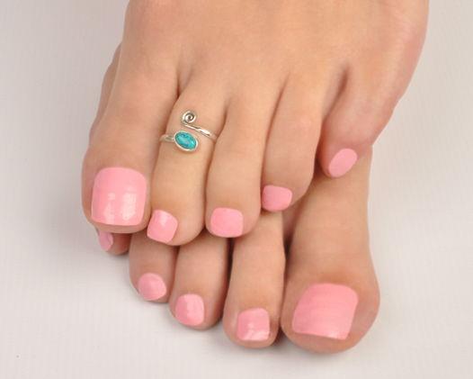 Серебряное кольцо на ногу или фалангу