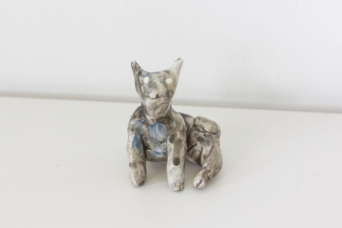 Настоящий керамический  собако-червячок