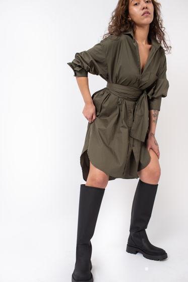 Платье-рубашка с кушаком