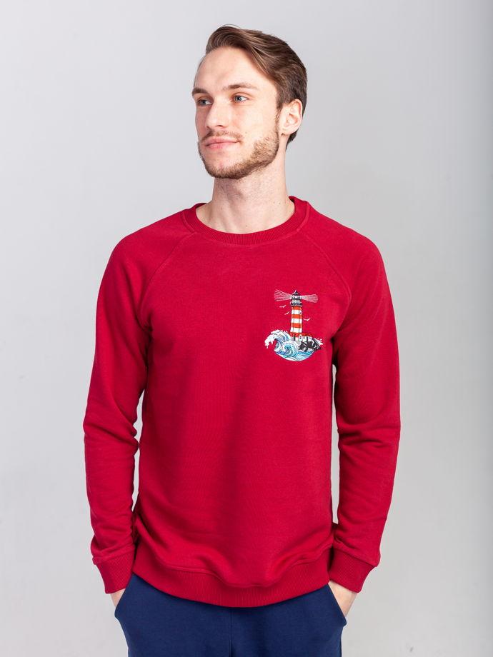 Свитшот с вышивкой Faro Rosso