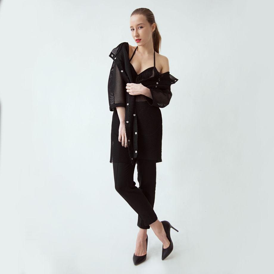 Пальто из сетки GVOZDEVA