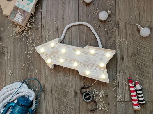 СТРЕЛКА  — Авторский светильник, ночник из дерева ручной работы