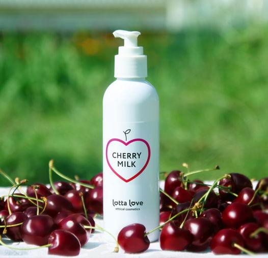 Молочко для тела и рук с маслом вишни, аминокислотами и полисахаридами