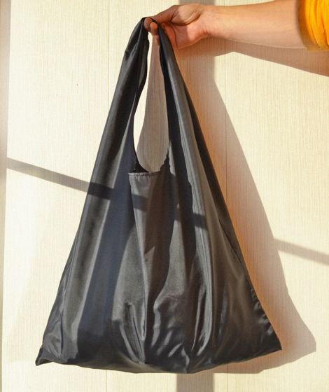 Черный шоппер-котомка для похода за продуктами