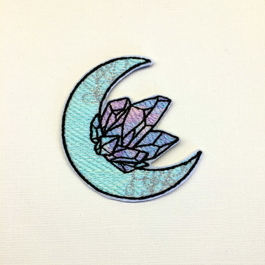 "Термоклеевая нашивка ""луна и кристаллы"""