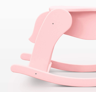 """Розовая лошадка-качалка из дерева """"macaron малинка"""""""