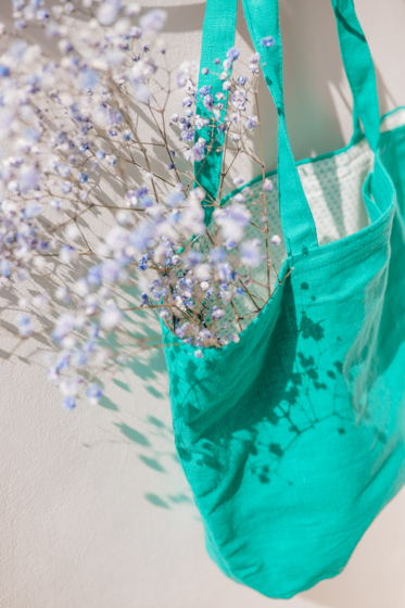 Сумка шоппер зеленого цвета