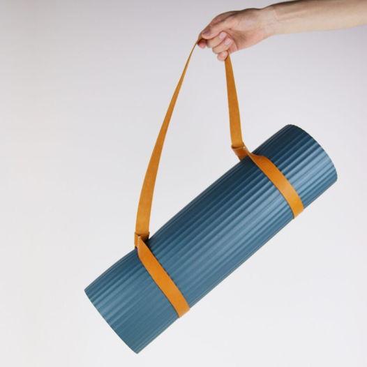 Кожаный ремень для коврика (йога, пилатес, гимнастика)