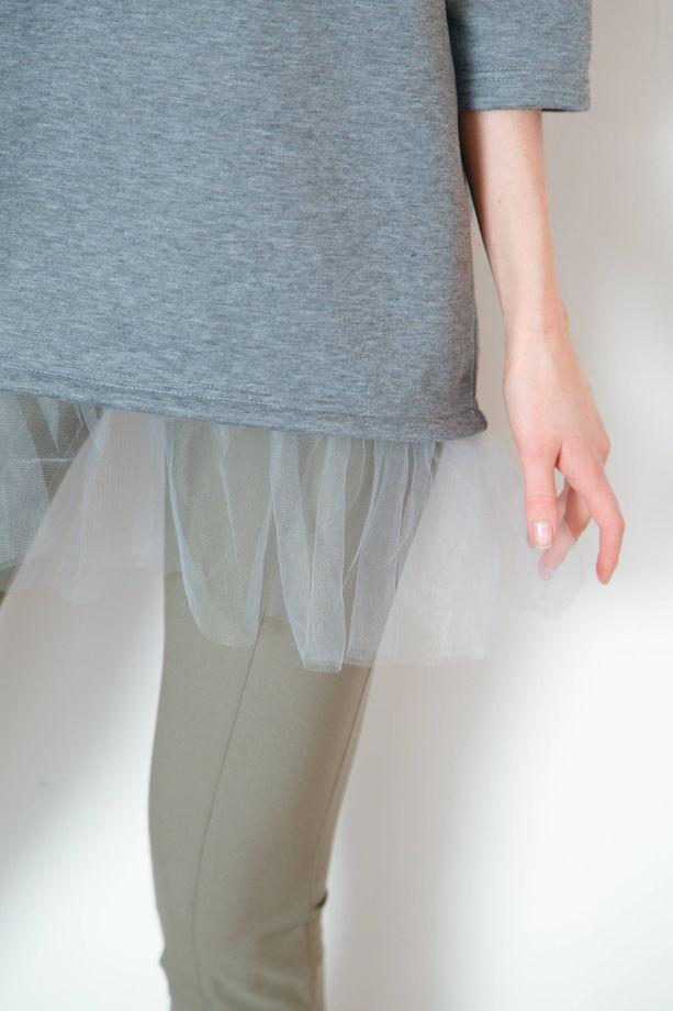 """Удлиненный свитшот """"Балерина"""""""