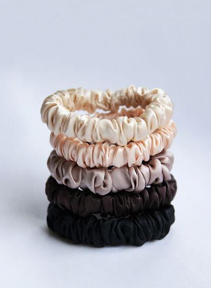 Резинки для волос из натурального шёлка Набор из 5 шт